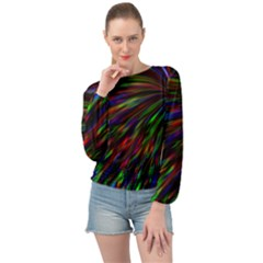 Explosion Fireworks Rainbow Banded Bottom Chiffon Top