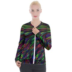 Explosion Fireworks Rainbow Casual Zip Up Jacket by Bajindul