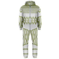 Guilloche Border Hooded Jumpsuit (men)  by Bajindul