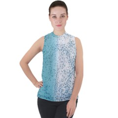 Spetters Stains Paint Mock Neck Chiffon Sleeveless Top by HermanTelo