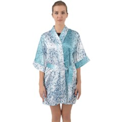 Spetters Stains Paint Quarter Sleeve Kimono Robe