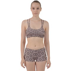 Texture Tissue Seamless Plaid Perfect Fit Gym Set
