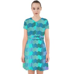 Texture Geometry Adorable In Chiffon Dress
