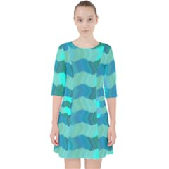 Texture Geometry Pocket Dress