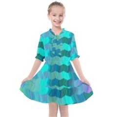 Texture Geometry Kids  All Frills Chiffon Dress