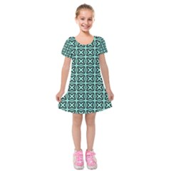 Texture Tissue Seamless Kids  Short Sleeve Velvet Dress