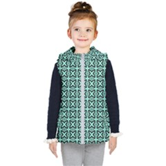Texture Tissue Seamless Kids  Hooded Puffer Vest
