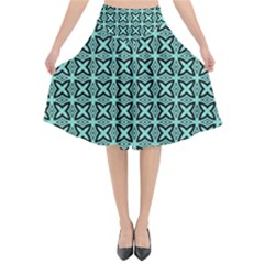 Texture Tissue Seamless Flared Midi Skirt