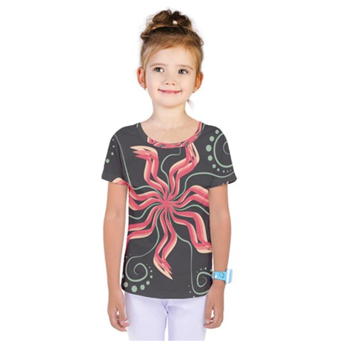 Flower Abstract Kids  One Piece Tee by HermanTelo