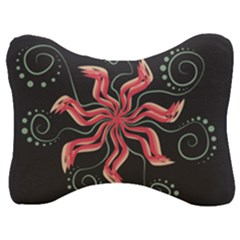 Flower Abstract Velour Seat Head Rest Cushion by HermanTelo