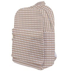 Gingham Check Plaid Fabric Pattern Grey Classic Backpack