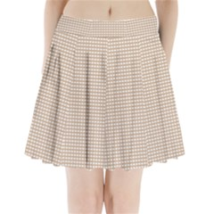 Gingham Check Plaid Fabric Pattern Grey Pleated Mini Skirt