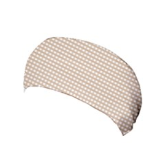 Gingham Check Plaid Fabric Pattern Grey Yoga Headband