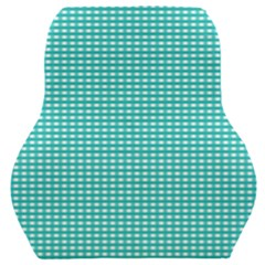 Gingham Plaid Fabric Pattern Green Car Seat Back Cushion  by HermanTelo