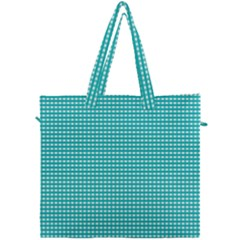 Gingham Plaid Fabric Pattern Green Canvas Travel Bag