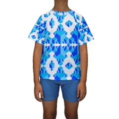 Cubes Abstract Wallpapers Kids  Short Sleeve Swimwear by HermanTelo
