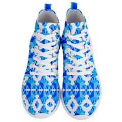 Cubes Abstract Wallpapers Men s Lightweight High Top Sneakers by HermanTelo