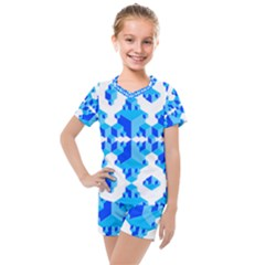 Cubes Abstract Wallpapers Kids  Mesh Tee And Shorts Set by HermanTelo