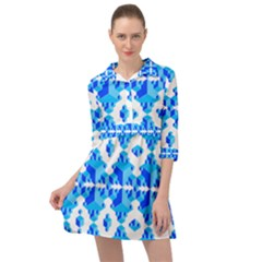 Cubes Abstract Wallpapers Mini Skater Shirt Dress