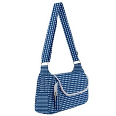 Gingham Plaid Fabric Pattern Blue Multipack Bag by HermanTelo