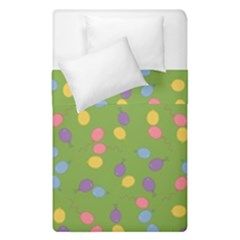 Balloon Grass Party Green Purple Duvet Cover Double Side (single Size)
