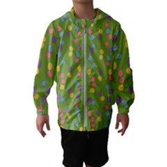 Balloon Grass Party Green Purple Kids  Hooded Windbreaker