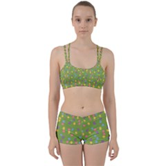 Balloon Grass Party Green Purple Perfect Fit Gym Set