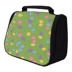 Balloon Grass Party Green Purple Full Print Travel Pouch (small)