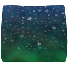 Background Blue Green Stars Night Seat Cushion
