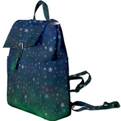 Background Blue Green Stars Night Buckle Everyday Backpack