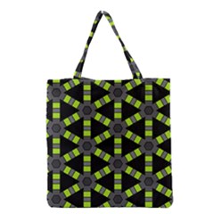 Backgrounds Green Grey Lines Grocery Tote Bag