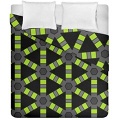 Backgrounds Green Grey Lines Duvet Cover Double Side (california King Size)