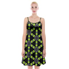 Backgrounds Green Grey Lines Spaghetti Strap Velvet Dress