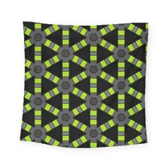 Backgrounds Green Grey Lines Square Tapestry (small)
