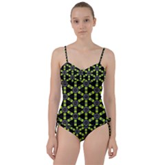 Backgrounds Green Grey Lines Sweetheart Tankini Set