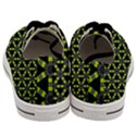 Backgrounds Green Grey Lines Men s Low Top Canvas Sneakers View4