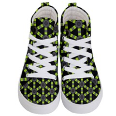 Backgrounds Green Grey Lines Kids  Hi Top Skate Sneakers