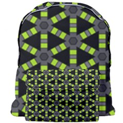Backgrounds Green Grey Lines Giant Full Print Backpack