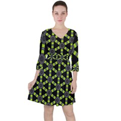 Backgrounds Green Grey Lines Ruffle Dress
