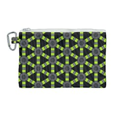 Backgrounds Green Grey Lines Canvas Cosmetic Bag (large)