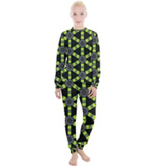 Backgrounds Green Grey Lines Women s Lounge Set