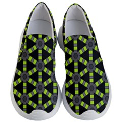 Backgrounds Green Grey Lines Women s Lightweight Slip Ons