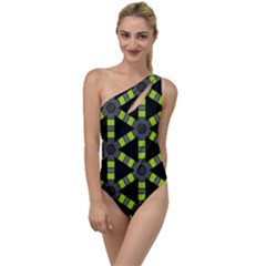 Backgrounds Green Grey Lines To One Side Swimsuit
