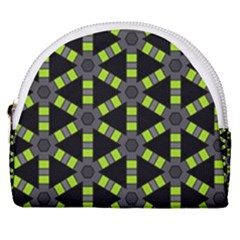 Backgrounds Green Grey Lines Horseshoe Style Canvas Pouch