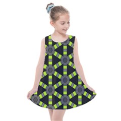 Backgrounds Green Grey Lines Kids  Summer Dress by HermanTelo