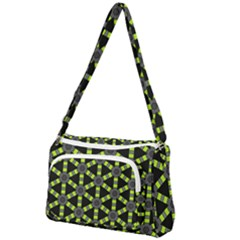 Backgrounds Green Grey Lines Front Pocket Crossbody Bag