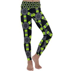 Backgrounds Green Grey Lines Kids  Lightweight Velour Classic Yoga Leggings