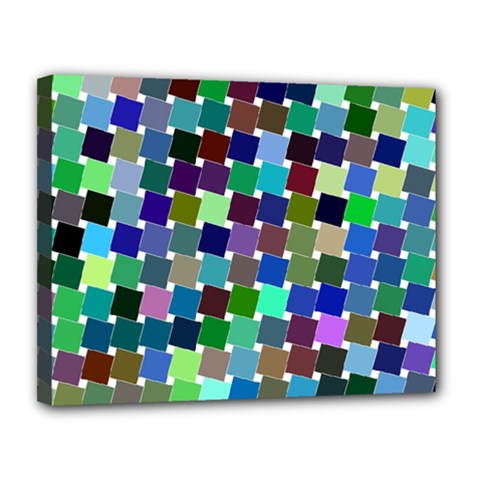 Geometric Background Colorful Canvas 14  X 11  (stretched)