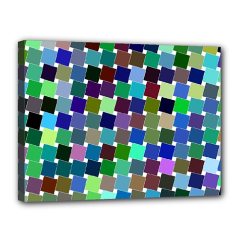 Geometric Background Colorful Canvas 16  X 12  (stretched)
