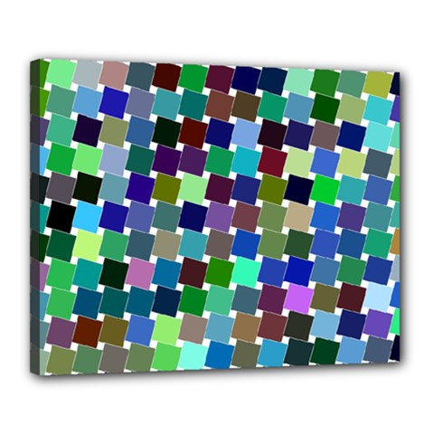 Geometric Background Colorful Canvas 20  X 16  (stretched)